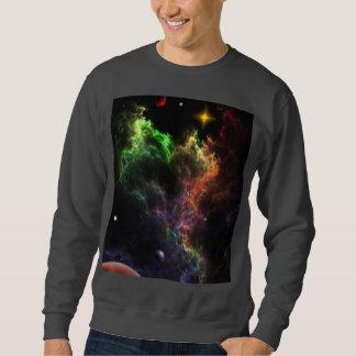 星雲の集りの基本的なスエットシャツのPlanetoids スウェットシャツ