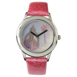 星雲の#purpleの腕時計の都市 腕時計