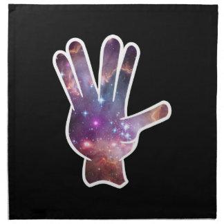 星雲手のプリント ナプキンクロス