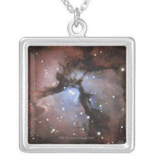 星雲 シルバープレートネックレス