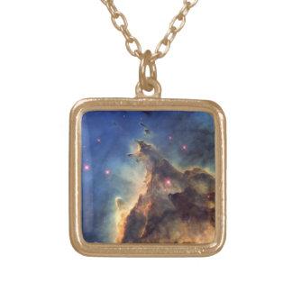 星雲NGC 2174 ゴールドプレートネックレス