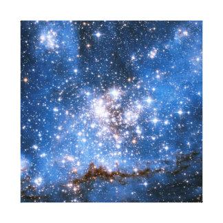 星雲NGC 346の幼児星-ハッブルの宇宙の写真 キャンバスプリント