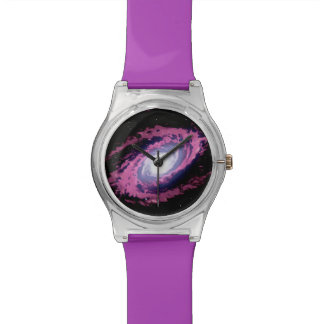 星雲Xの美しい水彩画のアートワークの腕時計 ウオッチ