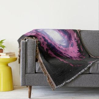 星雲Xの美しい水彩画のアートワーク毛布 スローブランケット