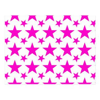 星2のピンク ポストカード