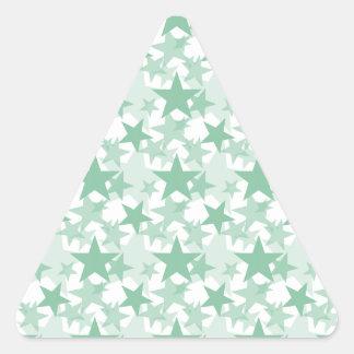 星3のアメリカツガ 三角形シール