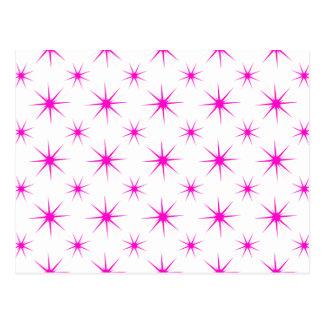 星5のピンク ポストカード