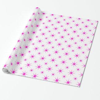 星5のピンク ラッピングペーパー