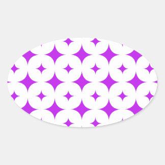 星7の紫色 楕円形シール