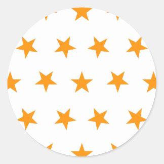 星8のオレンジ ラウンドシール