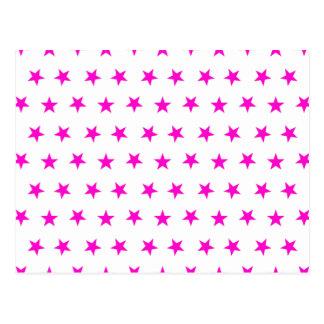 星8のピンク ポストカード