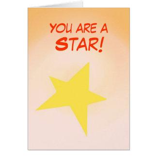 星、カードがカスタマイズお祝いです カード