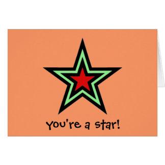 星 グリーティングカード