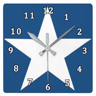 星 スクエア壁時計