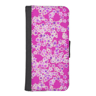 星、マゼンタに対する薄紫の陰 iPhoneSE/5/5sウォレットケース