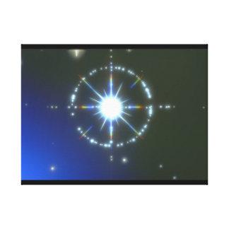 星。 (星; 宇宙; クローズアップ; light_Space場面 キャンバスプリント
