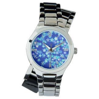 星、濃紺に対して淡いブルーの陰 腕時計