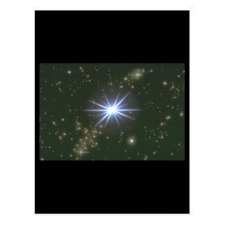 星。 (銀河系; 宇宙; 星; color_Space場面 ポストカード