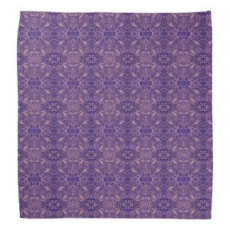 映された紫色のペイズリーの自然 バンダナ