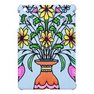 映された花およびつぼ iPad MINIケース