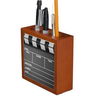 映画カチンコの机のオルガナイザー ペンスタンド