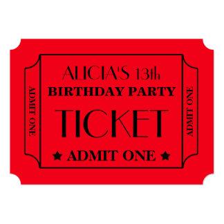 映画チケットの誕生会 カード