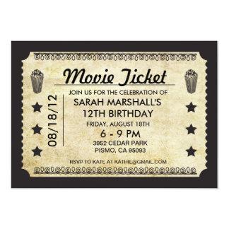 映画チケット 12.7 X 17.8 インビテーションカード