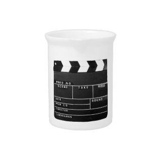 映画フィルムビデオメーカーのカチンコのデザイン ピッチャー