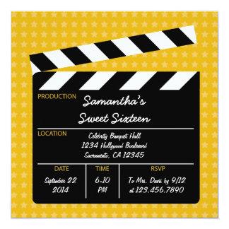 映画下見板のSweet sixteenの誕生日の招待状 カード
