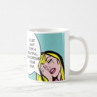 映画俳優の漫画本のコーヒー・マグ コーヒーマグカップ