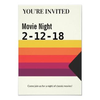映画夜レトロの80年代VHSのビデオテープの招待 カード