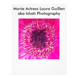 映画女優のローラGuillen別名Ishahの写真撮影 チラシ