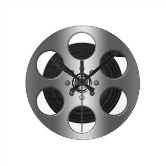 映画巻き枠(印刷された平たい箱) ラウンド壁時計