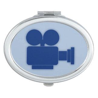 映画用カメラ(エレガントな青)の楕円形の密集した鏡