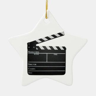 映画製作者のフィルムの石板の下見板映画オーナメント セラミックオーナメント