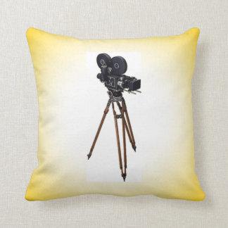 映画製作者のヴィンテージのカメラ クッション