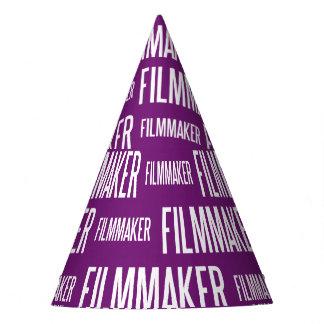 映画製作者の紙のパーティの帽子(紫色) パーティーハット