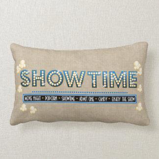 映画館のShowtimeの枕青のアクセント ランバークッション