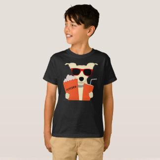 映画館犬3DガラスのポップコーンはTシャツをからかいます Tシャツ