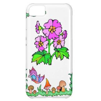 春および花の紫色の花 iPhone5Cケース
