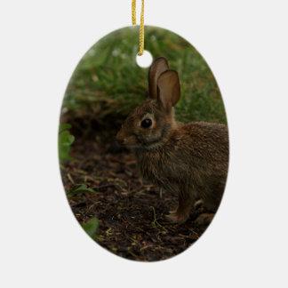春かイースター: ひよこ、ウサギ セラミックオーナメント