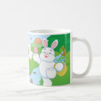 春のお祝いの卵の狩り コーヒーマグカップ