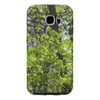 春のかえでは緑の自然を去ります SAMSUNG GALAXY S6 ケース