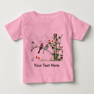 春のすずめ ベビーTシャツ
