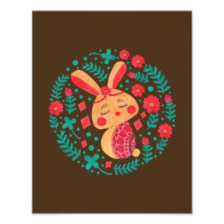 春のイースターのウサギ フォトプリント