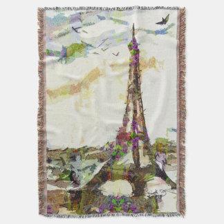 春のエッフェル塔のフランス毛布のパリ スローブランケット