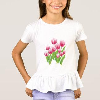 春のチューリップのイースターギフトのTシャツ Tシャツ