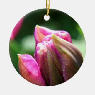 春のチューリップの花 セラミックオーナメント