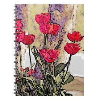 春のチューリップ ノートブック