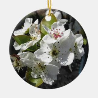 春のナシ木の花 セラミックオーナメント